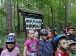 rowerami przez las